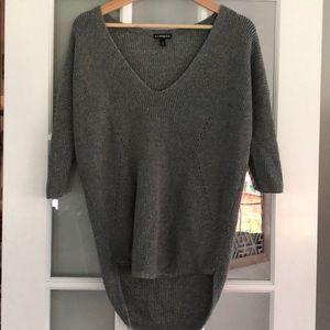 Express high low metallic sweater